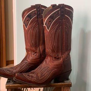 Beautiful rich red Tony Lama boots size 9